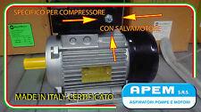 MOTORE ELETTRICO ITALIANO 3 CV MONOFASE COMPRESSORE  3HP 2,2KW 2800 GIRI NO CINA