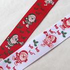 "10YARDS 1"" Grosgrain Ribbon Merry Christmas Santa Claus Decor Craft"