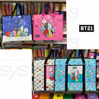 BTS BT21 Official Authentic Goods Tarpaulin Bag 2Size 2Color By Kumhong Fancy