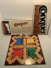Vintage 1979 Conquer Board Game Whitman Complete - Game of Cunning and Capture