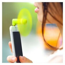 Fan Portable Travel Mini Cooling Fan For iPhone 5/5S/5C/6/6S Plus Lime AC2