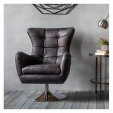 Frank Hudson Bristol Swivel Chair Antique Ebony