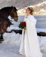 Hot Winter Long Faux Fur Trim Wedding Cloaks Bridal Kids Flower Girls Cape