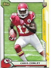 2015 Topps Take It to the House Chris Conley rookie card, Kansas City Chiefs