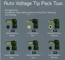 Maplin Auto Voltage 6 Tip Pack for Samsung, Dell, Acer, ,Sony, Toshiba Laptops