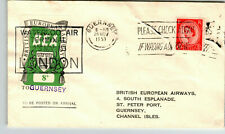 Great Britain 1953 8d Bea Flight Cover / Fdc / to Guernsey - Z13742