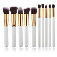 Lot 10Pcs Makeup Brushes Set Cosmetic Eyeshadow Face Powder Foundation White