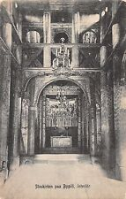 Bygdo Norway Church Interior Antique Postcard (J37466)