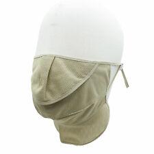 Sunblock UV Face Neck Mask Adjustable for Jogging Fishing Golf Light Khaki