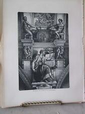 Vintage Print,SISTINE CHAPEL,Rome,Francis Wey,1872