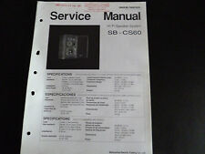 Original Service Manual Technics HiFi speaker sistema sb-cs60