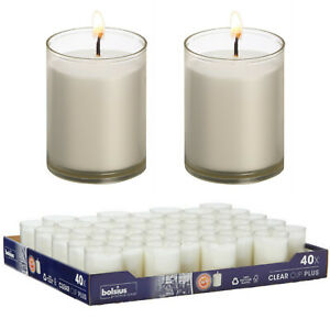 40 x Bolsius Refill Nachfüller Kerzen Acryl Cup 42x55 mm Relight Nachfüll-Lichte
