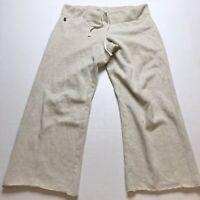 """Ralph Lauren Light Tan Crop Sweatpants Size Small 25"""" Inseam A673"""