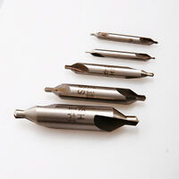 5 HSS Center Drills Bits Set 60° Combined Countersink Tool kit High Speed