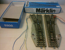 Märklin H0 5202 Electr. Weichenpaar Piste M de première classe état