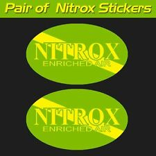 Nitrox scuba decal diver down oval graphic sticker enriched air decal rebreather