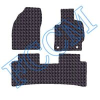 Toyota Prius (3 x Piece TAXI) 2009-2011 TAILORED RUBBER CAR MATS with 2 CLIPS