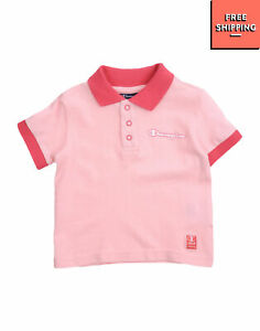 CHAMPION Polo Shirt Size 9M / 74CM Two Tone Short Sleeve