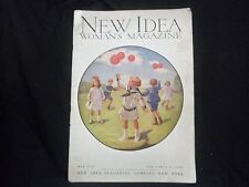 1910 MAY NEW IDEA WOMAN'S MAGAZINE - GREAT COVER & ADS - ST 1089