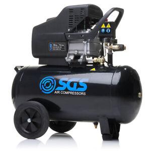 SGS 50 Litre Direct Drive Air Compressor - 9.6CFM, 2.5HP, 50L