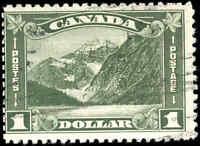 Used Canada 1930 F Scott #177 $1.00 King George V Arch/Leaf Stamp