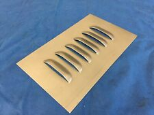 SINGLE LOUVERED STEEL VENT HOOD PANEL 6X10 W/1 ROW OF 6 LOUVERS