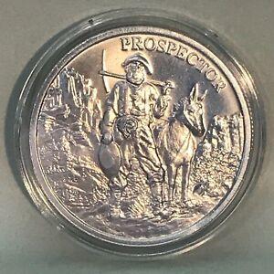 Prospector 1 oz .999 Silver Round Provident Elemetal Old Gold Rush Miner Digger