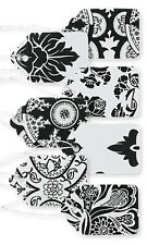 """500 Assorted Black White Paper Price Tags 1 1/16"""" x 1 â…� String Merchandise"""