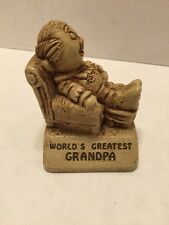 Vintage Paula 1970 W.178 USA World's Greatest Grandpa Figure Gift Retro Recliner