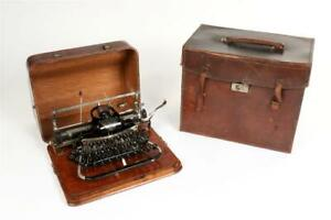 """Vintage~ c1906 ~ """"Blickensderfer 7"""" Portable Typewriter with Bentwood Cover"""