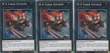 YUGIOH CARD 3 X M-X-SABER INVOKER  BLLR-EN063  BATTLE OF LEGEND SECRET