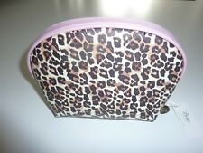 BOUX AVENUE Brown Mix Leopard Dome Cosmetic Bag NWT