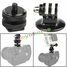 "1/4"" Hot Shoe Adaptor + Camera Tripod Mount Adapter for GoPro HD Hero 1 2 3 3+ 4"