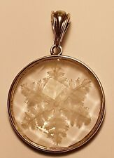 Sterling Cut Crystal Snowflake Pendant/Enhancer Signed WK