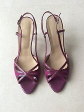 Fabulous Designer HOBBS Pink Suede & patent Leather Sandals Size 6/39 rrp £149