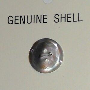 JHB Genuine Seashell Buttons - Pearl Grey - 5/8 inches - Free Shipping