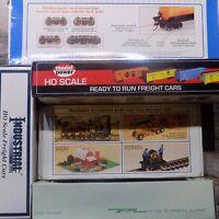 Assorted Box Hopper Flat Reefer Tank Stock Gondola Cars HO (Select One) NIB
