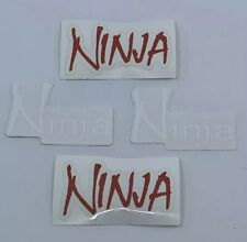 Ninja Paintball Red / White Logo Decal Sticker Lot of 4 - Dealer Air Tank Promo