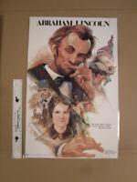 Abraham Lincoln Russ Flint Poster American ATA Classroom Teaching Aid 1987
