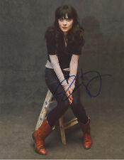 ZOOEY DESCHANEL signed autographed 11x14 photo