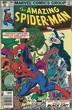 AMAZING SPIDERMAN 204 VF 1st 1963 MARVEL SERIES RARE BLACK CAT NEWSSTAND VARIANT