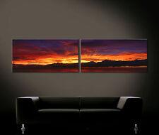 MAYA MAGIC - Leinwand Bild Bilder Druck Blau Orange Gelb Rot Kunstdruck Deko XL