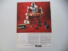 advertising Pubblicità 1963 KODAK CINEPRESA/MACCHINA FOTOGRAFICA