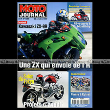 MOTO JOURNAL N°1298 KAWASAKI ZX-9R 900 NINJA SUPERMOTARD BERTRAND SEBILEAU 1997