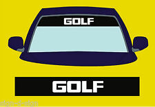 GOLF SUNSTRIP DECALS GRAPHICS STICKER choose any 2 colours from list