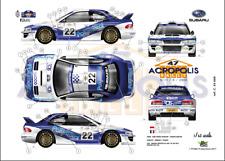 [FFSMC Productions] Decals 1/43 Subaru Impreza WRC '99 Richelmi Acropolis 2000
