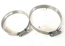 2012 - 2018 FORD FOCUS 2.0L STAINLESS STEEL HOSE PIPE CLAMP 2 PC. SET OEM