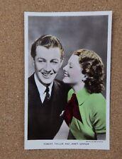 Robert Taylor & Janet Gaynor  p206 Film Partners Real Photo Postcard xc2