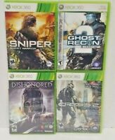 Xbox 360 - 4 Game Lot Dishonored Sniper Ghost Recon 2 Crysis 2 Limited Tested