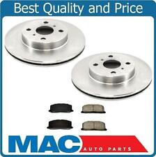 For 1992-1995 Toyota Paseo Front Brake Disc Rotor Rotors  With Ceramic Pads